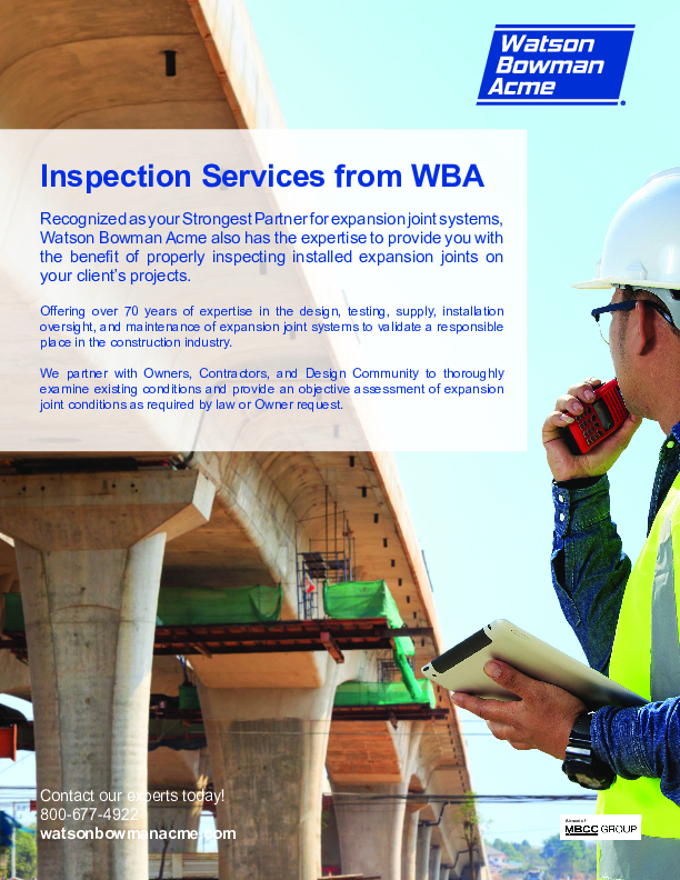 WBA Inspection Services -Bridge & Highway Cover