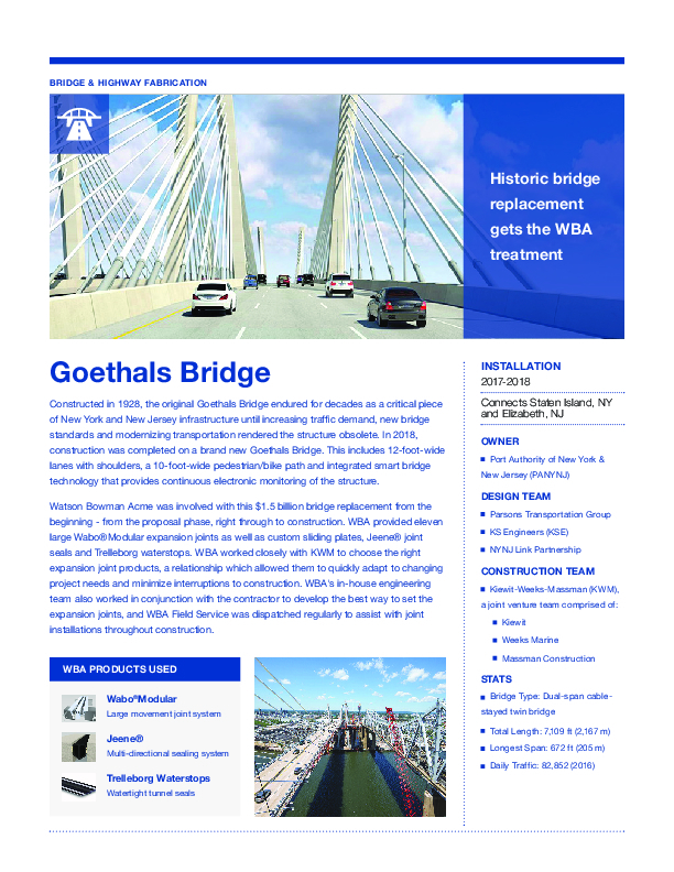 Goethals Bridge Cover