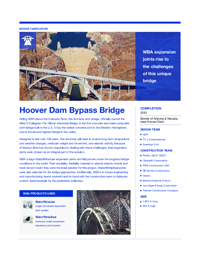 Hoover Dam Bypass Cover