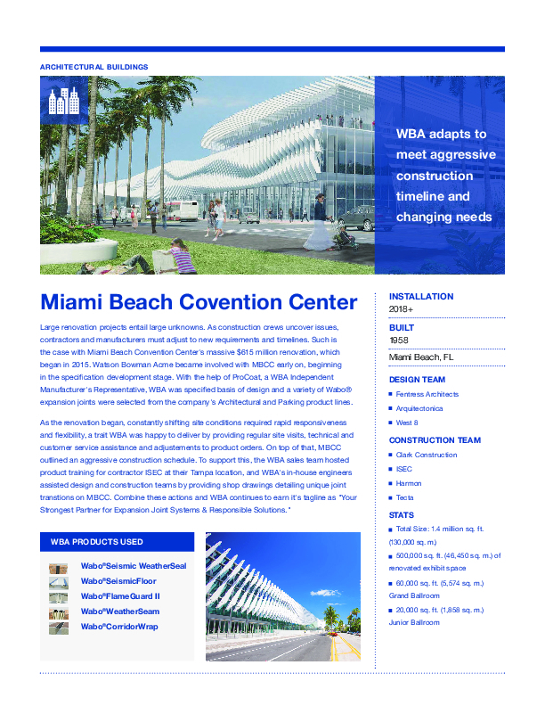 Miami Beach Convention Center Cover