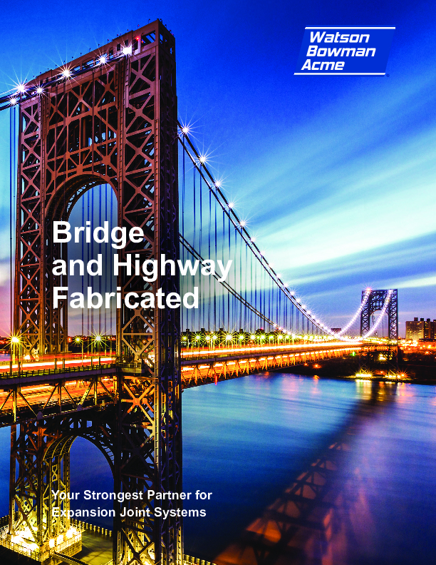Wabo® Bridge and Highway Fabricated Products Cover