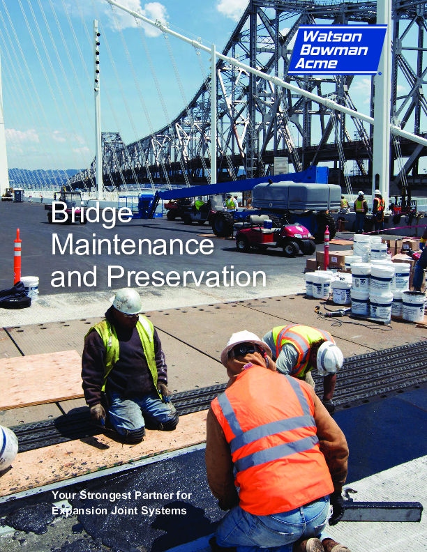 Wabo® Bridge and Highway Maintenance Products Cover