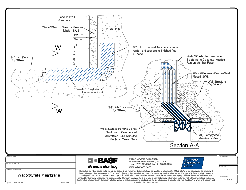 Wabo®CreteMembrane (ME) SWS CAD Detail Cover