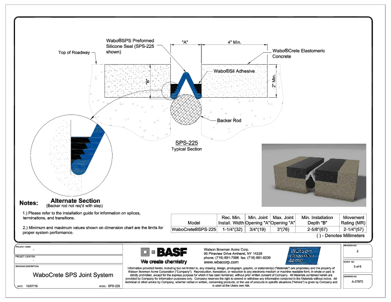 Wabo®CreteSPS (SPS-225) CAD Detail Cover