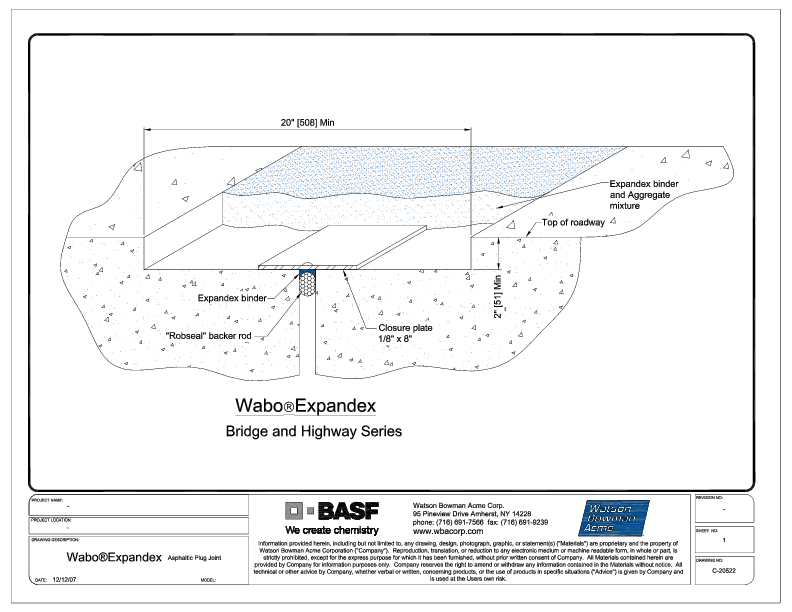 Wabo®Expandex CAD Detail Cover
