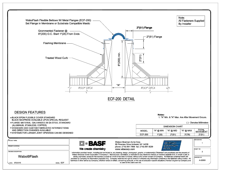 Wabo®Flash (ECF-200) CAD Detail Cover