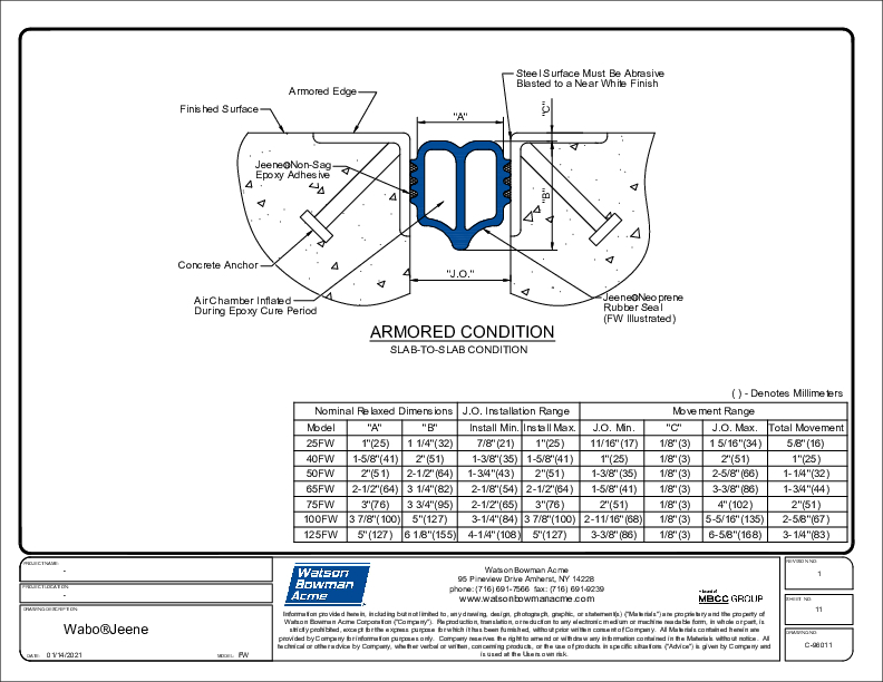 Jeene® (FW) Armored Condition CAD Detail Cover